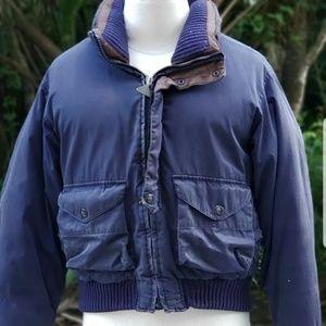 Vtg Nautica Duck Down Mens M Winter Puffer Jacket